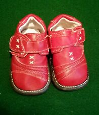 Puddle jumper red leather infant toddler girl casual shoes size 14 with velcro