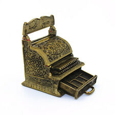 1:12 Vintage Bronze Metal Gold Cash Register Doll's House Dollhouse Miniature