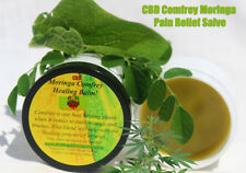 2oz CBD HEMP OIL CANNABIS SALVE PAIN RELIEF BALM+MORINGA COMFREY (CEDAR WOOD)