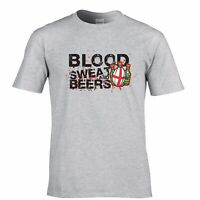 Mens England Rugby Supporters T Shirt Blood Sweat And Beers Six 6 Nations Tshirt