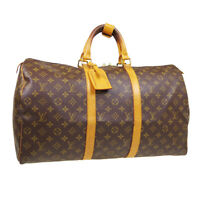 LOUIS VUITTON KEEPALL 50 TRAVEL HAND BAG SP0012 PURSE MONOGRAM M41426 AUTH 33565