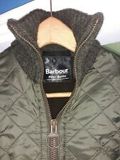BARBOUR GREEN POLAR QUILT CASUAL JACKET VINTAGE HUNTING SHOOTING