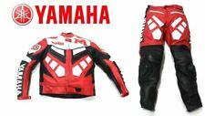Yamaha Motorbike Motocycle Leather Jacket Trousers Protection Red White Large