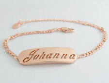 Johanna - Bracelet With Name - 18ct Rose Gold Plated - Gifts For Her - Fashion