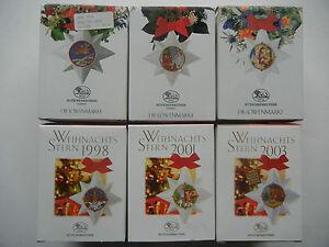 Hutschenreuther Weihnachtsstern Porzellan 1994 - 1995 - 1998 Einzelverkauf