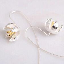 925 Silver Earrings Hook Long 1 Pair Wedding Daily Dangle Boho Bridal Sterling