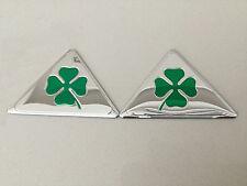 2x Alfa Romeo QV Quadrifoglio Verde Cloverleaf Emblem Logo Sticker Wing Badge