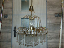 Chandelier PRECIOSA JABLONEC, glass, brass, vintage from the 70s