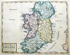 IRELAND  BY JOHN SENEX c1740  GENUINE ANTIQUE COPPER ENGRAVED MAP