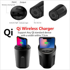 Qi Wireless Charger Car Cup Mount Holder For Samsung Iphone X Iphone 8 USB Port