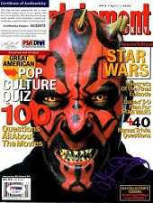 "RAY PARK Signed ENTERTAINMENT Magazine ""PHANTOM MENACE"" Maul PSA/DNA #AC32873"