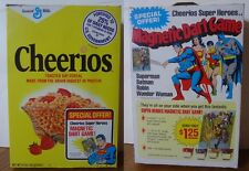 1978 Cheerios Cereal Box Dc Super Heroes Justice League Magnetic Dart game offer