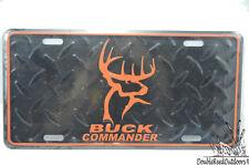 Buck Commander Metal License Plate Cover Orange BC LOGO