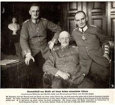 Generaloberst von Moltke mit seinen beiden verwundeten Söhnen  Bilddokument 1915