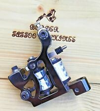 (BLACK-NICKEL-PLATED) BORDER TATTOO MACHINE,POWER-LINER CUSTOM WAGNER IRON FRAME