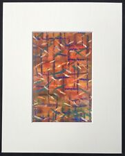 "Frantic original abstract mounted art print 10""x8"" G Burgess StIves Cornwall"
