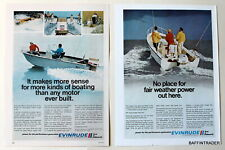 2 x Evinrude  Outboards   Magazine 1971  Print Ads  8 x 11