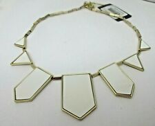 House of Harlow 1960 White Pennant NECKLACE NEW NWT Nicole Richie 14K GP Signed