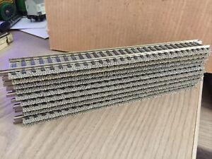 10 Stück FLEISCHMANN Spur H0 6101 gerade Profigleise je 200 mm gebraucht