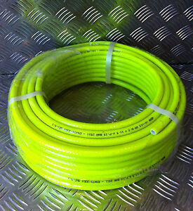 6mm ID x 100mtr coil Hi-Vis Yellow Water Fed Pole Hose WFP