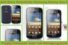 3x Anti reflex glare films de protection d'écran samsung Galaxy Ace 2 GT i8160 Mat set