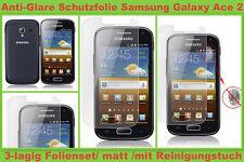 3x Anti reflex Glare Display Schutz folie Samsung Galaxy Ace 2 GT I8160 matt Set