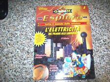DISNEY-ESPLORA GLOOM N.8-L'ELETTRICITA' DAL FULMINE ALLA LAMPADINA-DE AGOSTINI