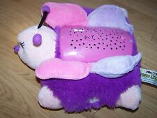 Pillow Pets Dream Lites Pink Butterfly Nightlight Starry Sky As Seen on TV EUC