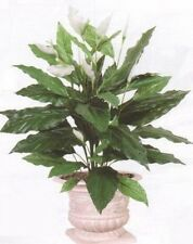 "35"" SPATHIPHYLLUM ARTIFICIAL SILK BUSH PLANT DAY LILLY FLOWER FLORAL TREE no pot"