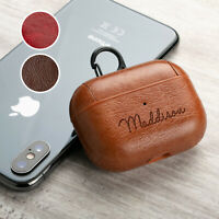 Personalised PU Leather Apple Airpods Pro Case Cover Anti Lost Case