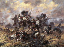 Imperial Guard at Waterloo  by Alexander Averyanov    Giclee Canvas Print Repro