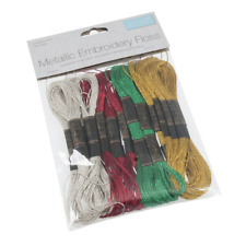 Embroidery Thread: Stranded: Metallic: Christmas Colours: 8m: 16 Skeins
