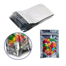 100 Pack Resealable Mylar Bags-Smell Proof Pouch Aluminum Foil Packaging Plas...