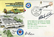 RAF Hurricane cover signed by WW2 Battle of Britain ace Bob Stanford-Tuck DFC