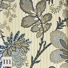 Luxury Antique Gold / Black Ornate Floral Lined Pencil Pleat Curtain Pair