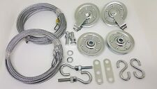 Garage door extension spring pulley sheave kit & Safety Cable