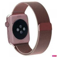 Stainless Steel Pink Mesh Watch Bands For Apple Watch 38mm 40mm 42mm