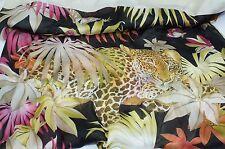 Salvatore Ferragamo Women's Silk Leopard Floral Scarf Logo Multi Color Shawl NWT