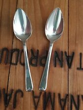 Set of 2 Grapefruit Spoons Silver plated Sheffield England Old English 5.25""