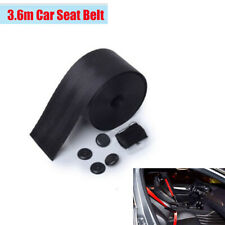 360cm Adjustable Safety Seat Belt Auto Car With 3 Bolt Point Black Polyester 1x