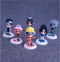 6pcs Naruto Shippuden Team Kakashi PVC Action Figure Figurine Collectible Toy