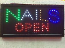 NALS OPEN LED Sign 19 x 10 Animation Flash BRIGHT DISPLAY