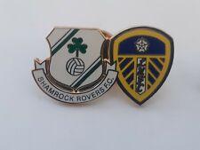 football pin badge Leeds United shamrock rovers league of Ireland irish
