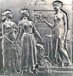 MEDAILLE PLAQUE EN ARGENT HENRI DUBOIS ART DECO ART NOUVEAU  POIDS 148,2 g