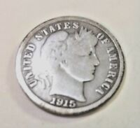 "1915-""P"" Barber/Liberty Head Dime"