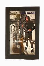 RGM8890 Tony Iommi Black Sabbah Miniature Guitar in Shadowbox Frame