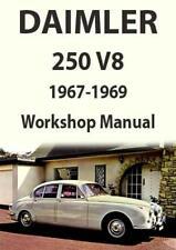 DAIMLER 250 V8 SALOON WORKSHOP MANUAL 1967-1969