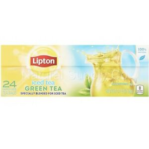 Lipton Family-Sized Iced Green Tea, Tea Bags (24ct Box)