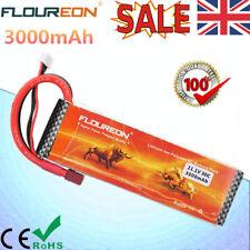 Floureon 3S 11.1V 3000mAh 30C T Plug LiPo Battery For RC Evader BX Car Airplane