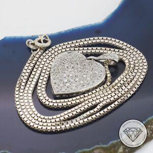 Wert 2.650,- Grandioser 0,60 Ct Diamant Anhänger & Kette 750 / 18 Kt Gold xxyy